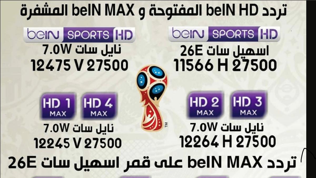 تردد قناة بي إن سبورت bein sports hd الرياضية